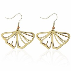 Gingko Leaf Earrings in Aspen