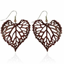 Muscadine Leaf Earrings Large