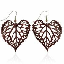 Muscadine Leaf Earrings Large
