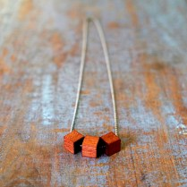 Wood Cube Diffuser Necklace