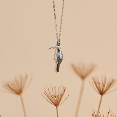 Southern double-collared Sunbird in Sterling Silver