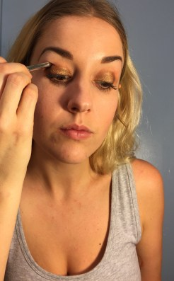 Spread that brown following your natural crease line.