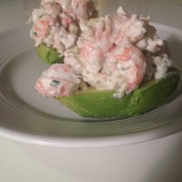 Langoustine Stuffed Avocado