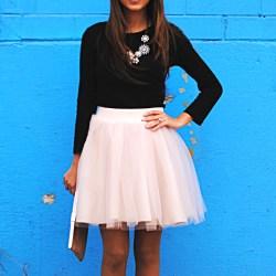 Tulle Skirts + Diamonds