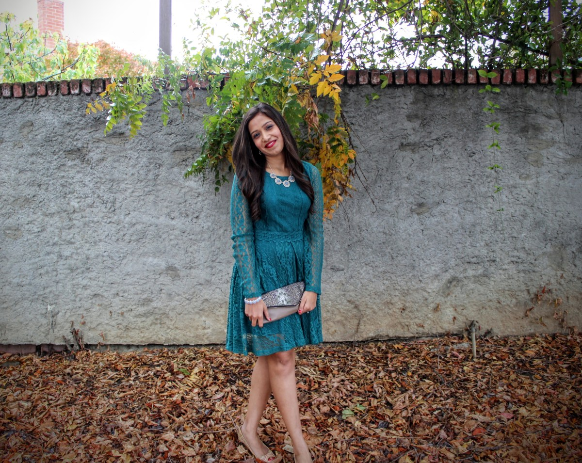 Green Lace Dress 14