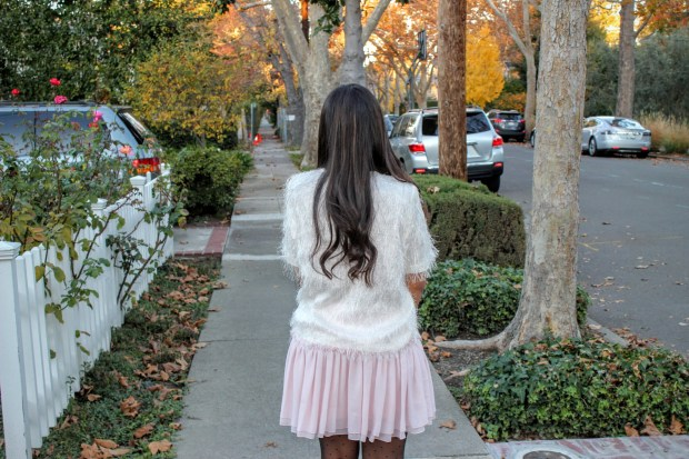 Pink Skirt Holiday Outfit 7