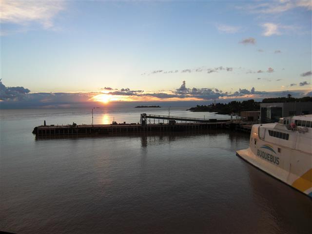 Sonnenuntergang auf dem Schiff 10