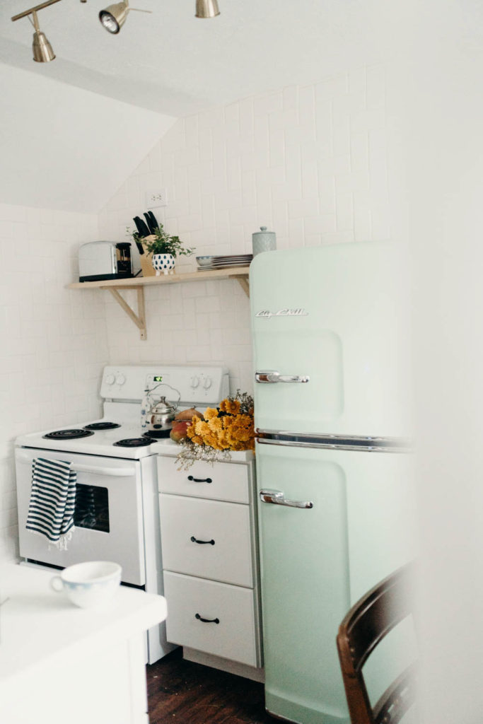 Cute Airbnb Retro Kitchen