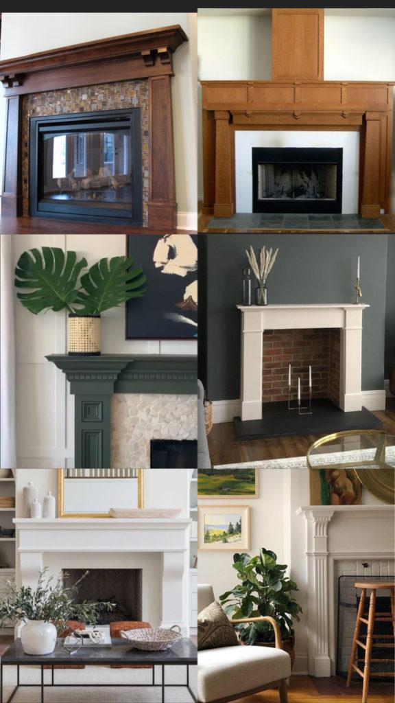 Traditional Craftsman fireplace mantel