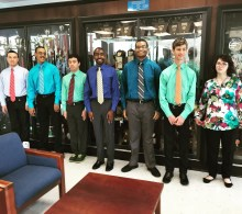Students prepared for their last interview with Riverview High Schools APC Mr. Massena
