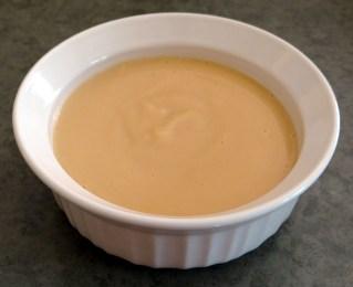 Organic baby food made with peaches, pears, and plain greek yogurt.
