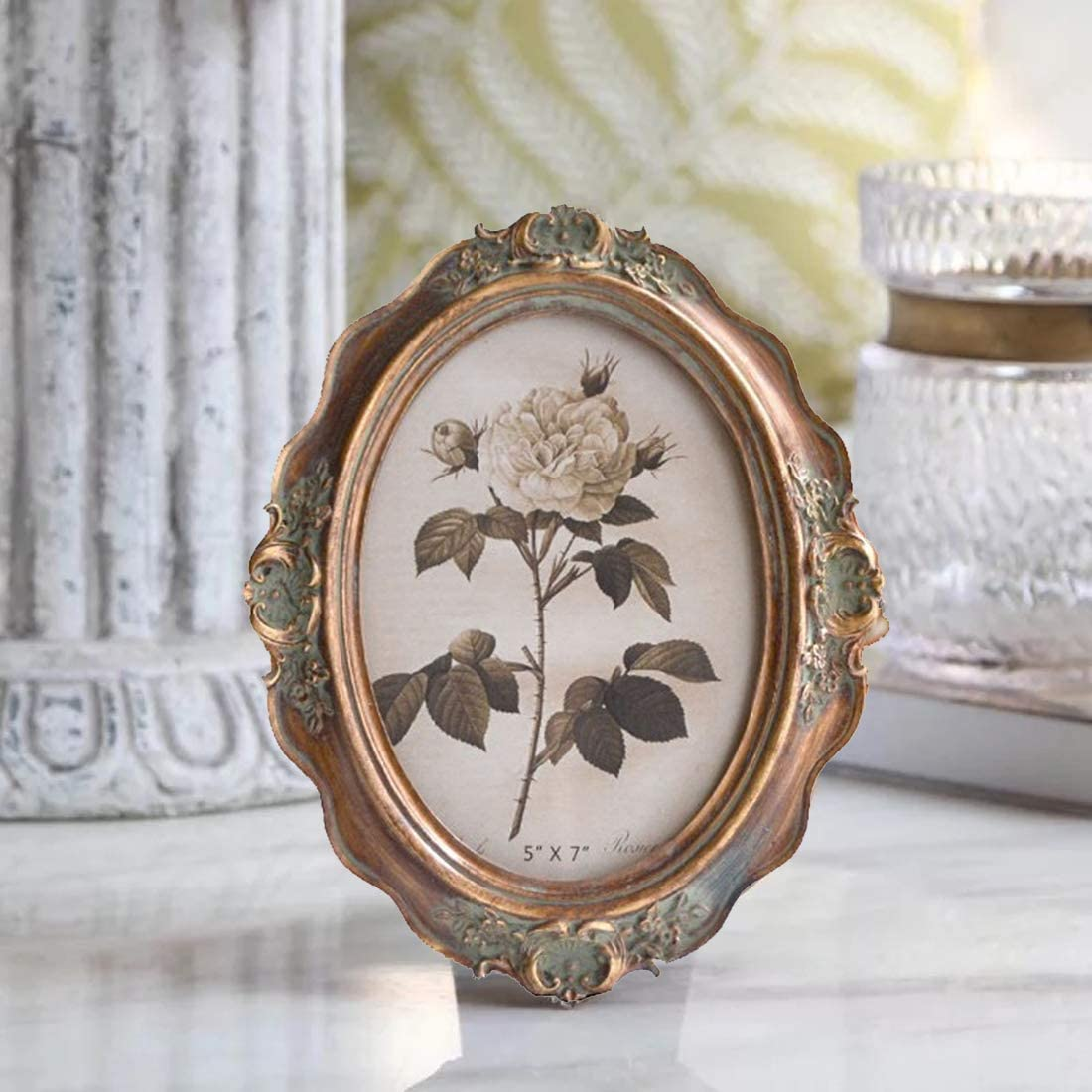 Oval Vintage Picture Frame   Peachy Interiors