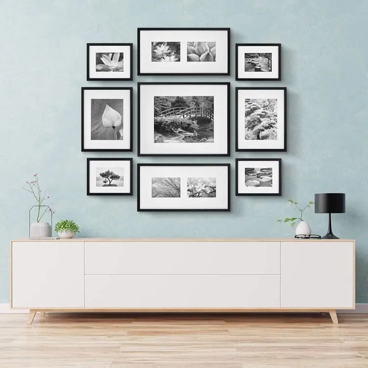 Black Photo Frame Gallery Wall Kit   Peachy Shop