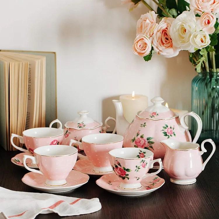 Floral Tea Set | Peachy Shop