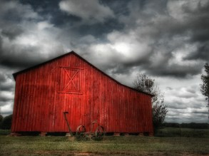 Red Barn Somewhere in Georgia