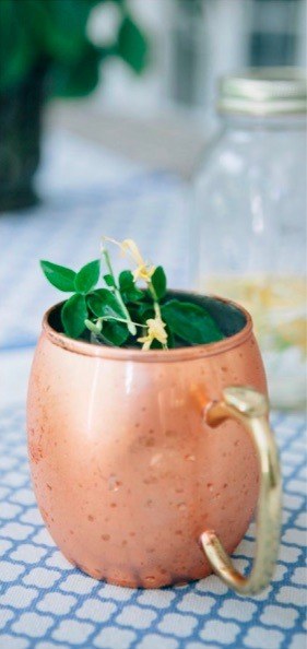 Honeysuckle Moscow Mule Summer Cocktail