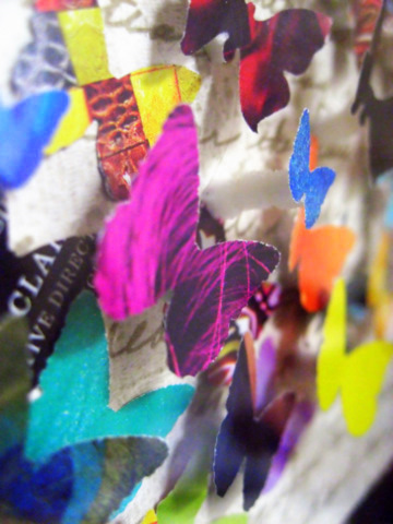 Finished Object: Recycled Magazine Butterfly Collage (3/6)