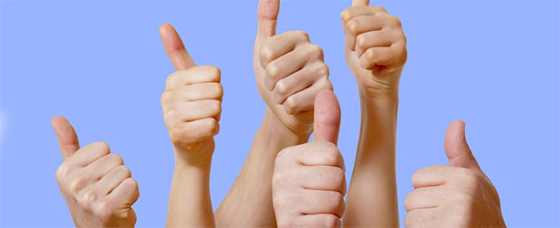 People holding thumbs up