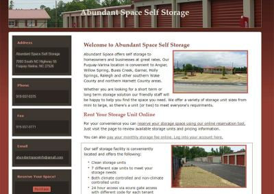 Storage Company Search Optimization