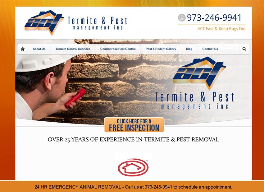 ACT Termite pest control website design