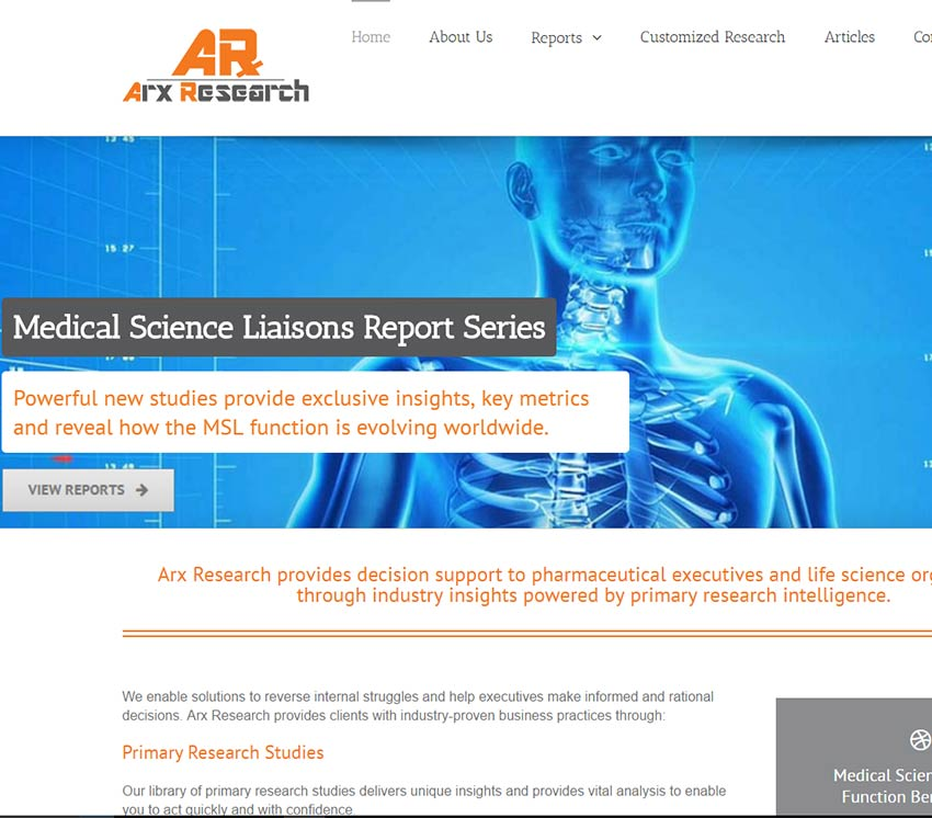 Arx Research Website Design