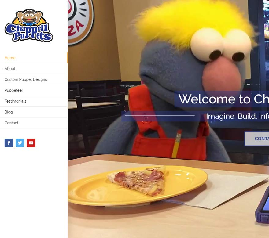 Chappel Puppets Website Design