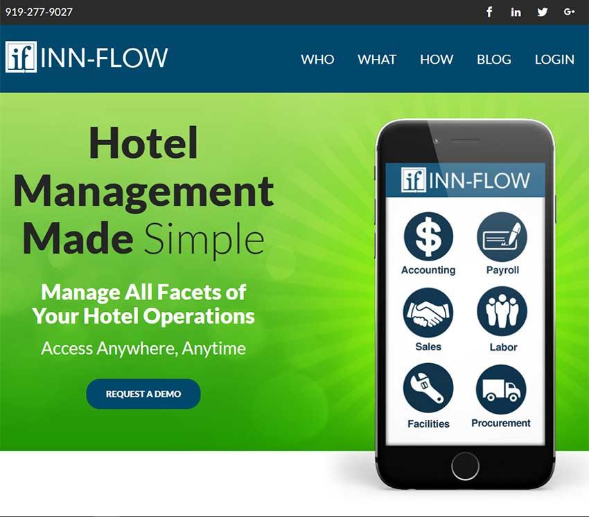 Inn Flow Website Snapshot