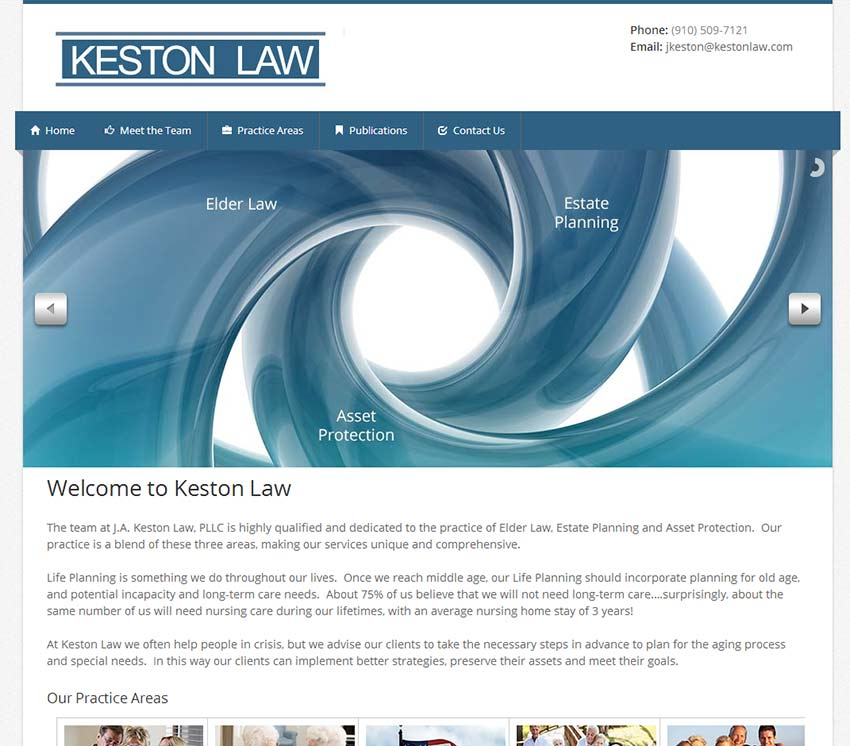 Keston Law Website Design