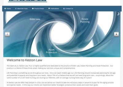 Keston Law Website Design
