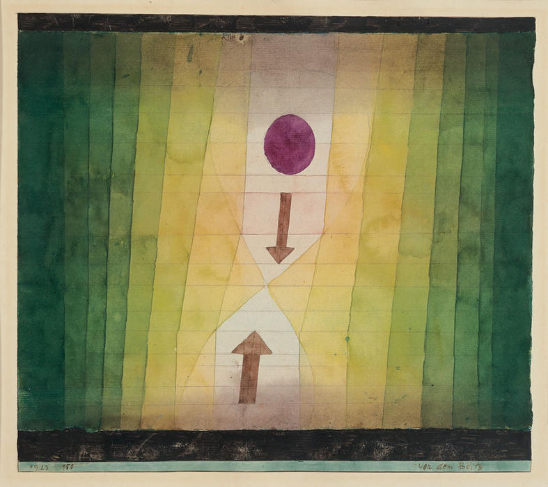 Paul Klee, Before the Blitz, 1923, gouache