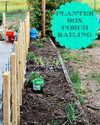 PORCH RAILING PLANTER BOX