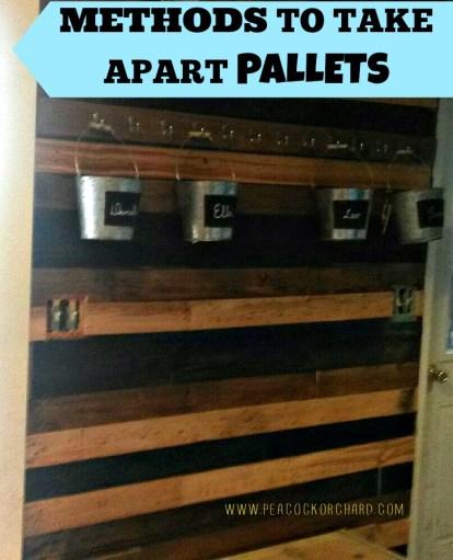 Methods to take apart pallets