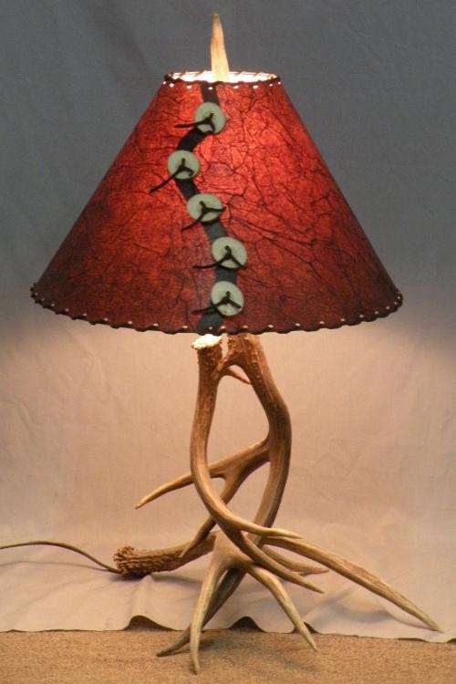 101 S Mule Deer Antler Table Lamp