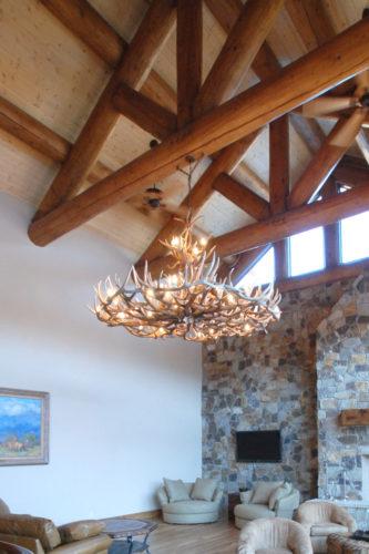 570-XL mt elbert elk mule deer antler chandelier