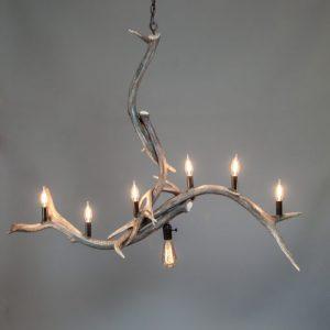 mountain modern style chandelier bridal veil falls elk antler