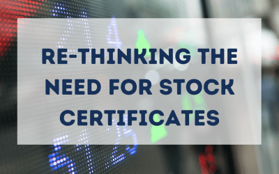 Re-thinking the need for stock certificates