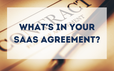 What's in your SaaS agreement?