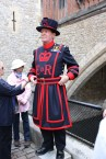 Our Yeoman, or the Queens body guard who was our guide for the first hour