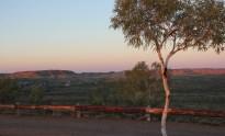 Sunset over the flood plains