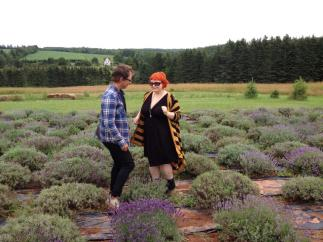 Dancing at the lavender farm with Laura