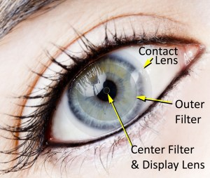 AR contact lens