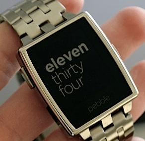 Pebble metal smartwatch
