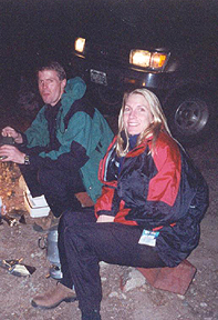 Brian (Climbing Partner) and Susan (my wife) preparing for early start on Mt. Columbia (Colorado)