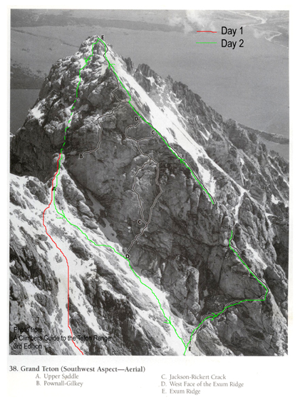 Summit day route