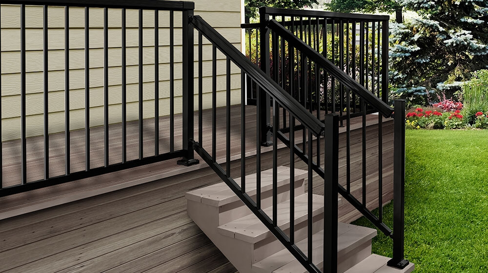Exclusive To The Home Depot Peak Aluminum Railing | Aluminum Handrails For Outdoor Steps | Wrought Iron Railings | Baluster | Staircase | Freedom | Powder Coated Aluminum