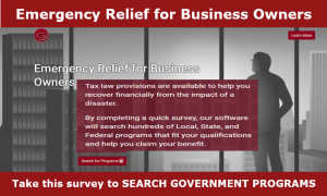 Recover COVID losses - get emergency business relief by taking our survey to search federal, state and local government programs to determine your eligibility.