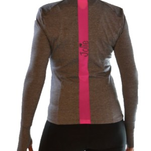 Jolie long sleeve running Jacket for women with zipper closure pockets on both sides