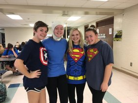 Superman (Delaney Baker, Maddy Wineberg); Captain America (Shannon Schmalzbauer); Finn from Adventure Time (Georgia Varano)