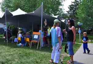 Peak Tents providing just the right shade for face painting and children activities