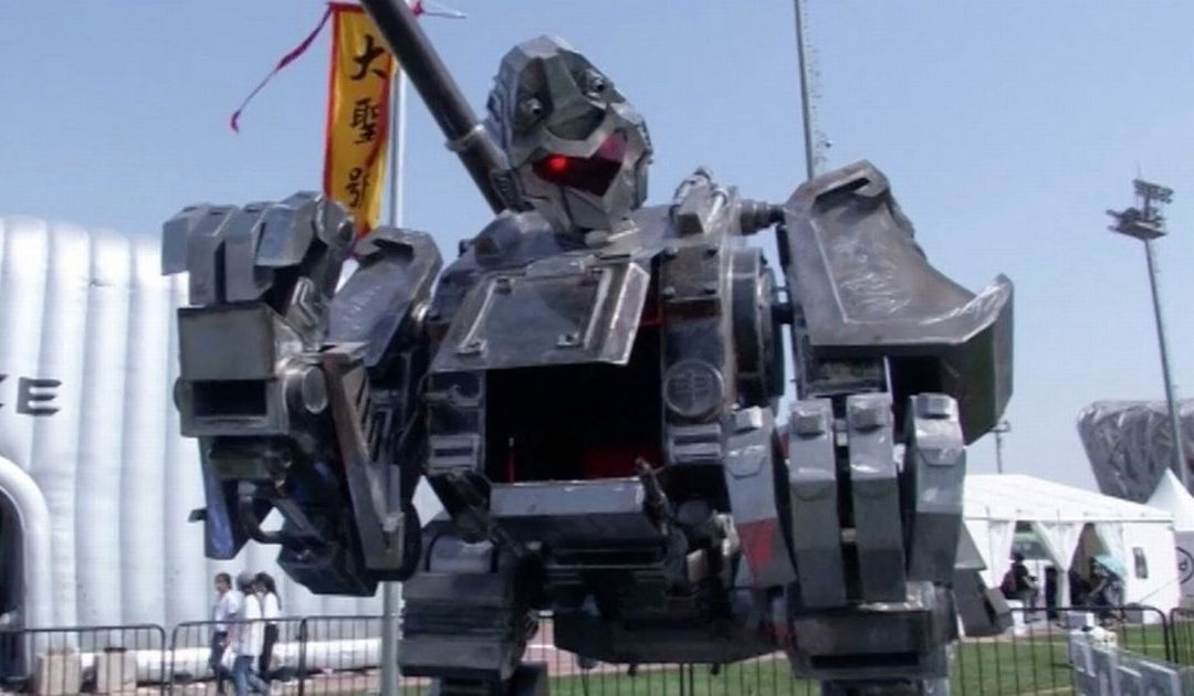 Chinese inventors show off the gladiator robot they want to use to challenge the US' 'Megabot'